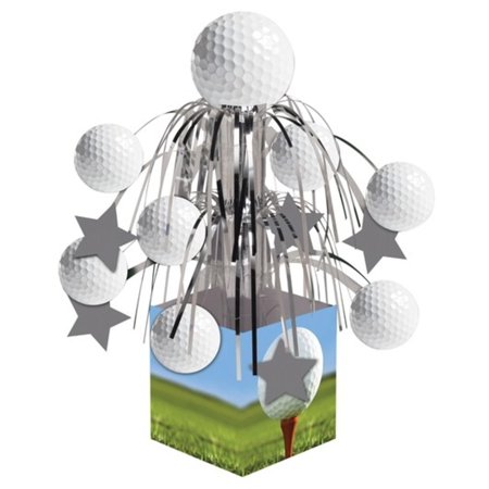 Pack of 6 Golf Sports Fanatic Mini Cascade Foil Tabletop Centerpiece Party Decorations 8.5