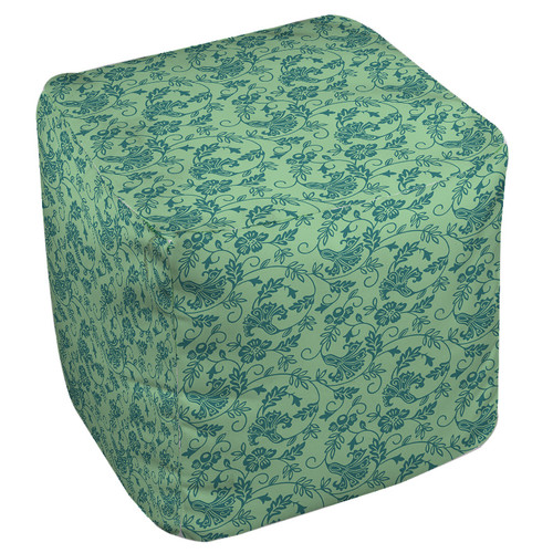 Manual Woodworkers & Weavers Sultry Blues Pouf