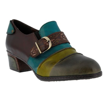 L'Artiste Chain By Spring Step Olive Leather Shoes 35 EU / 5 US Women