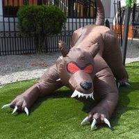 ALEKO Inflatable Haunted Halloween Dog Hound - 6.5 Foot