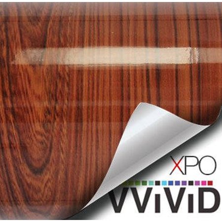 High Gloss Red Cedar Wood Grain Faux Finish Textured Vinyl Sticker Architectural Vinyl Adhesive Tile Wall Decor Decal VViViD ()