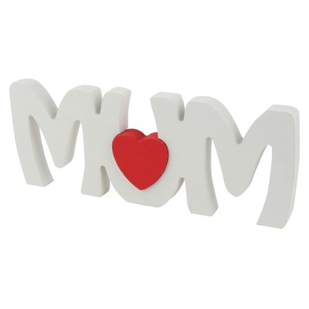 Household Wooden MUM English Letter Alphabet DIY Craft Gifts Decoration White