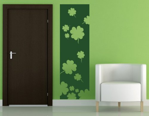Lucky Four-leaf Clovers Decorative Strip Wall Decal