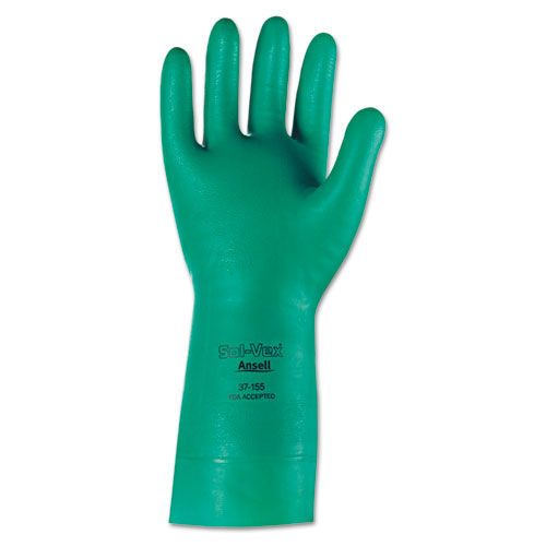 ANSELL Sol-Vex Nitrile Gloves, Size 10