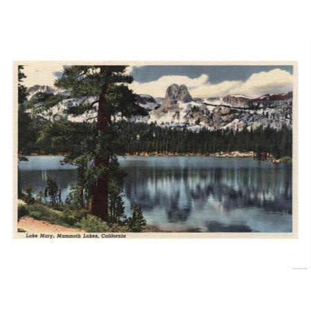 Mammoth Lakes, California - View of Lake Mary & High Sierra Mts. Print Wall Art By Lantern Press - City Of Lake Mary Halloween