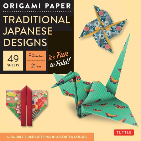 Sakura Origami Paper (Origami Paper - Traditional Japanese Designs - Large 8 1/4