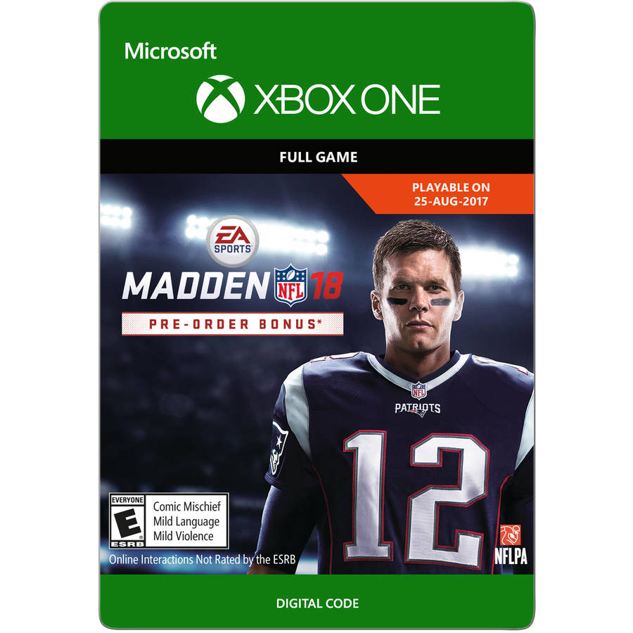Madden NFL 18 Standard Edition, Electronic Arts, Xbox One, [Digital Download]