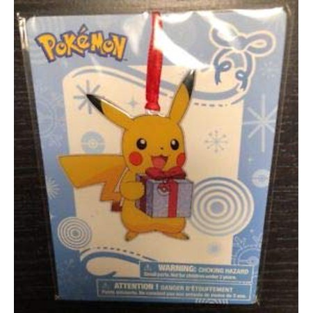 Pikachu Pokemon Christmas Ornament TRU Exclusive 2017 Version 1 (Present)](Pokemon Ornaments)