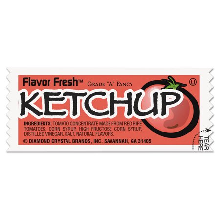 Flavor Fresh Ketchup Packets, .317oz Packet, 200/carton](Ketchup Packets For Halloween)