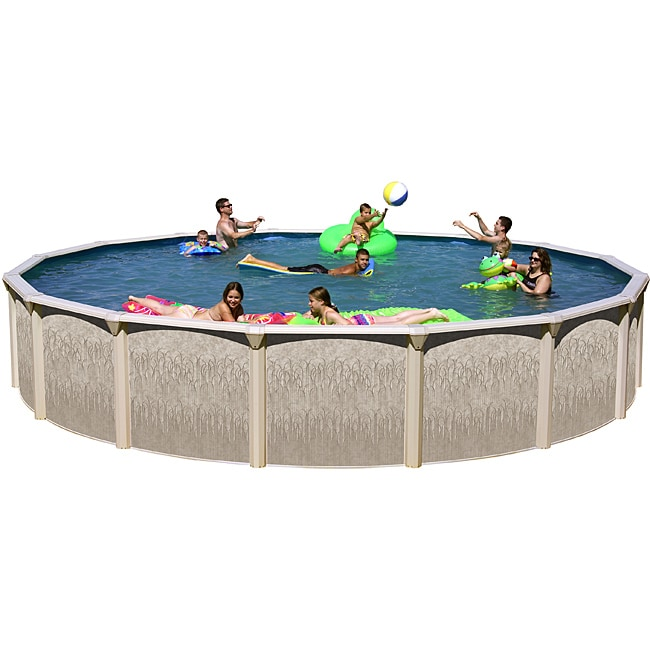 "Galveston 18' X 52"" Round Above Ground Pool package by Overstock"