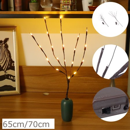 LED Artificial Twig Branch Lights Fairy Lights for Indoor Outdoor Use Battery Operated ()