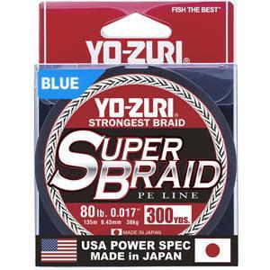 SUPER BRAID BLUE 80LB 300YD - Performance Braid 300yd Spool