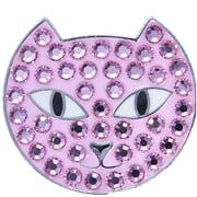 Bella Crystal Golf Ball Marker & Hat Clip - Pink Panther