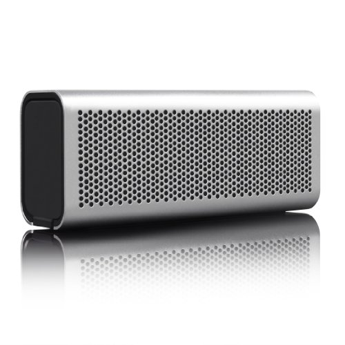 Silver BRAVEN 710 Portable Wireless Bluetooth Speaker Power Bank Charger