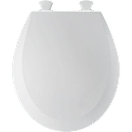 Bemis Residential Round Molded Wood Toilet Seat White ()