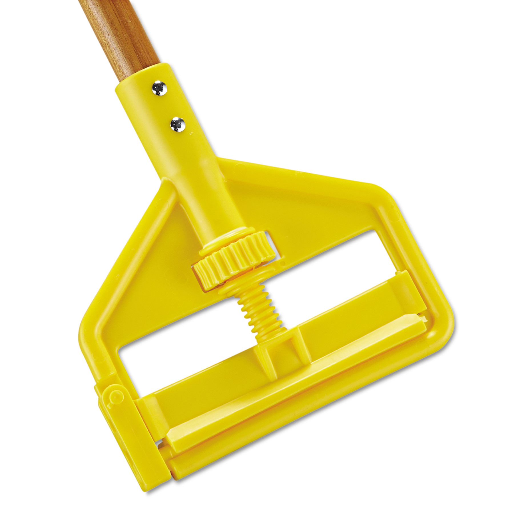 Rubbermaid Commercial Invader Side-Gate Wood Wet-Mop Handle, 1 dia x 60, Natural