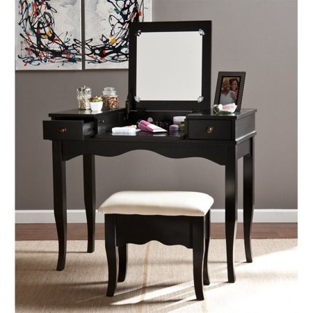 Southern Enterprises Francesca Vanity with Mirror and Bench in - Southern Enterprises Vanity