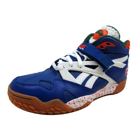 Reebok - Reebok Men s Pump Paydirt Mid Royal Green-White-Orange V60292 -  Walmart.com 5daae1e41