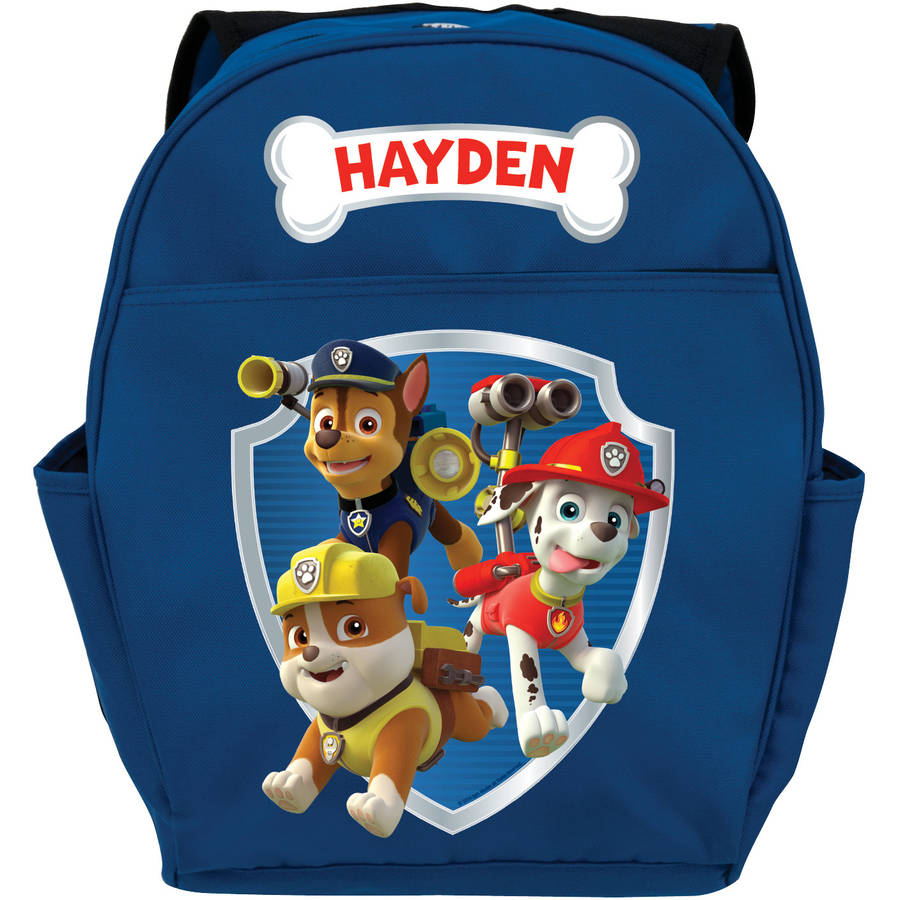 "Personalized Paw Patrol Ready for Adventure Blue 14""W x 19""H Youth Boy Backpack"