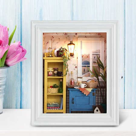 Ejoyous House Toy Kit, DIY House Kit,DIY Dollhouse Photo Frame Design Warm House Kit with Furniture Birthday Gifts Home Decoration - image 7 of 8