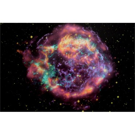 Black Light Reactive Space Poster of the Cassiopeia Supernova](Black Light Reactive)