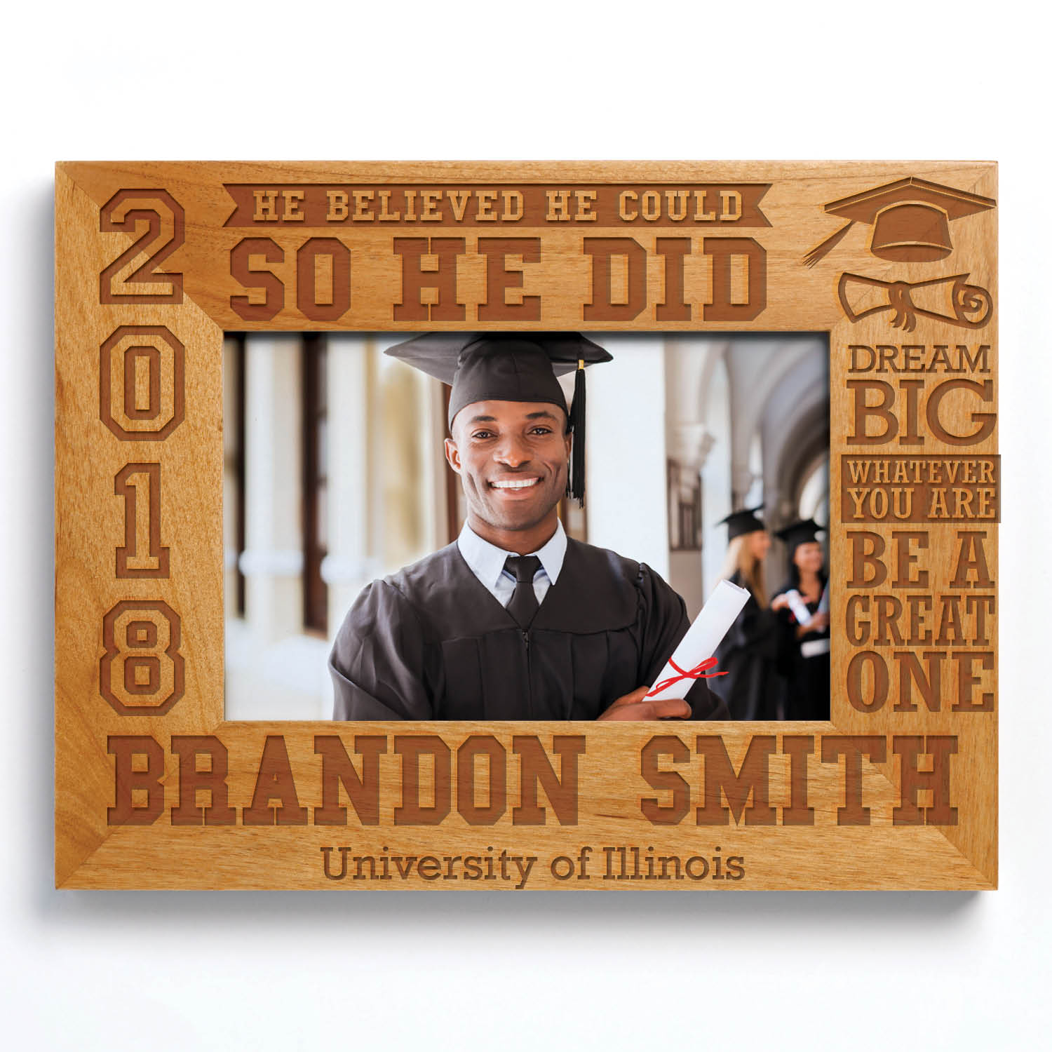 Personalized So He Did 2019 Graduation Frame