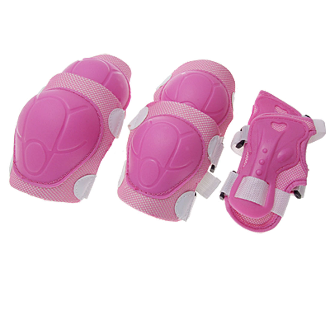 Pink Sports Protective Knee Wrist Elbow Support Set for Children