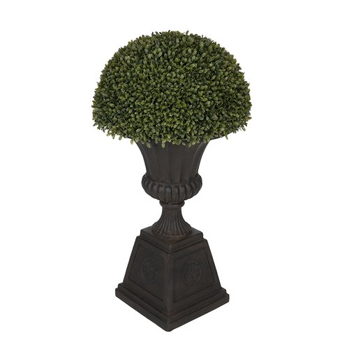 House of Silk Flowers Inc. Artificial Boxwood Half Ball Topiary in Urn
