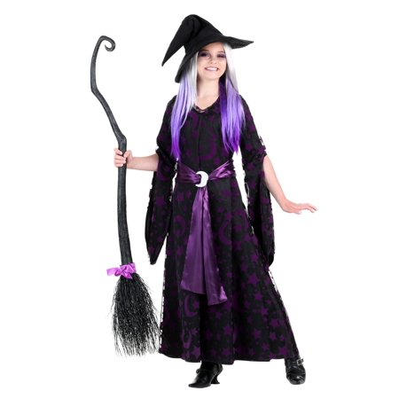 Girls Purple Moon Witch - Witch Girl Costume