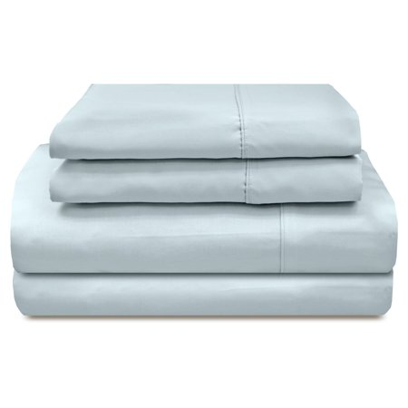 300 Thread Count Solid Sateen Egyptian Cotton Pillowcases - Set of 2 by Veratex