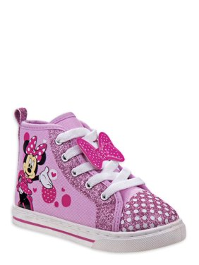 Disney Minnie Mouse Polka Dot Character High-Top Sneaker (Toddler Girls)