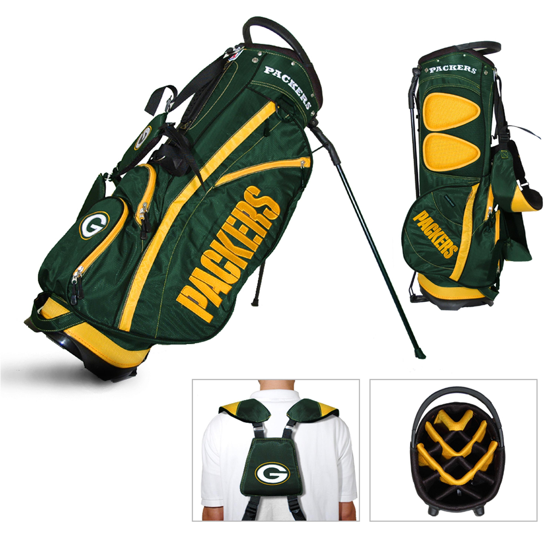 Green Bay Packers Team Golf Fairway Lightweight 14-Way Top Golf Club Stand Bag