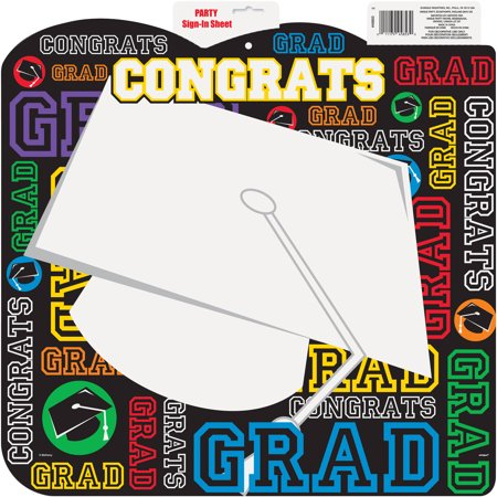 graduation party sign in sheet 18 x 17 in 1ct