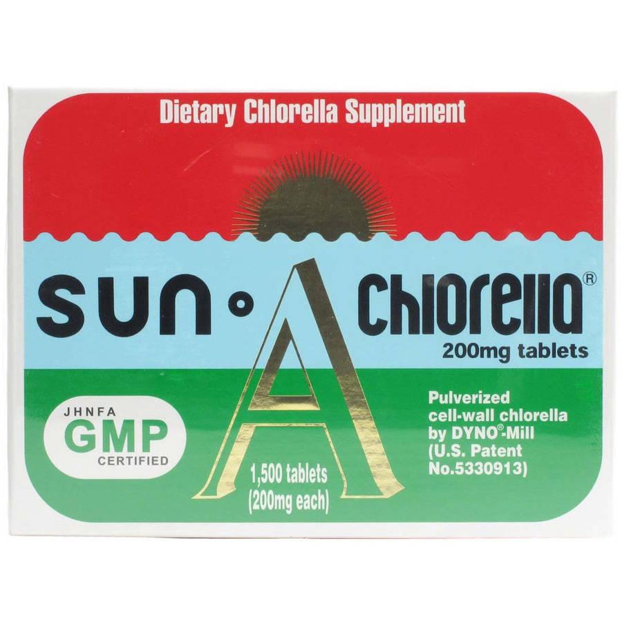 Sun Chlorella Chlorella Tablets, 200 Mg, 1500 Ct, 100 Servings