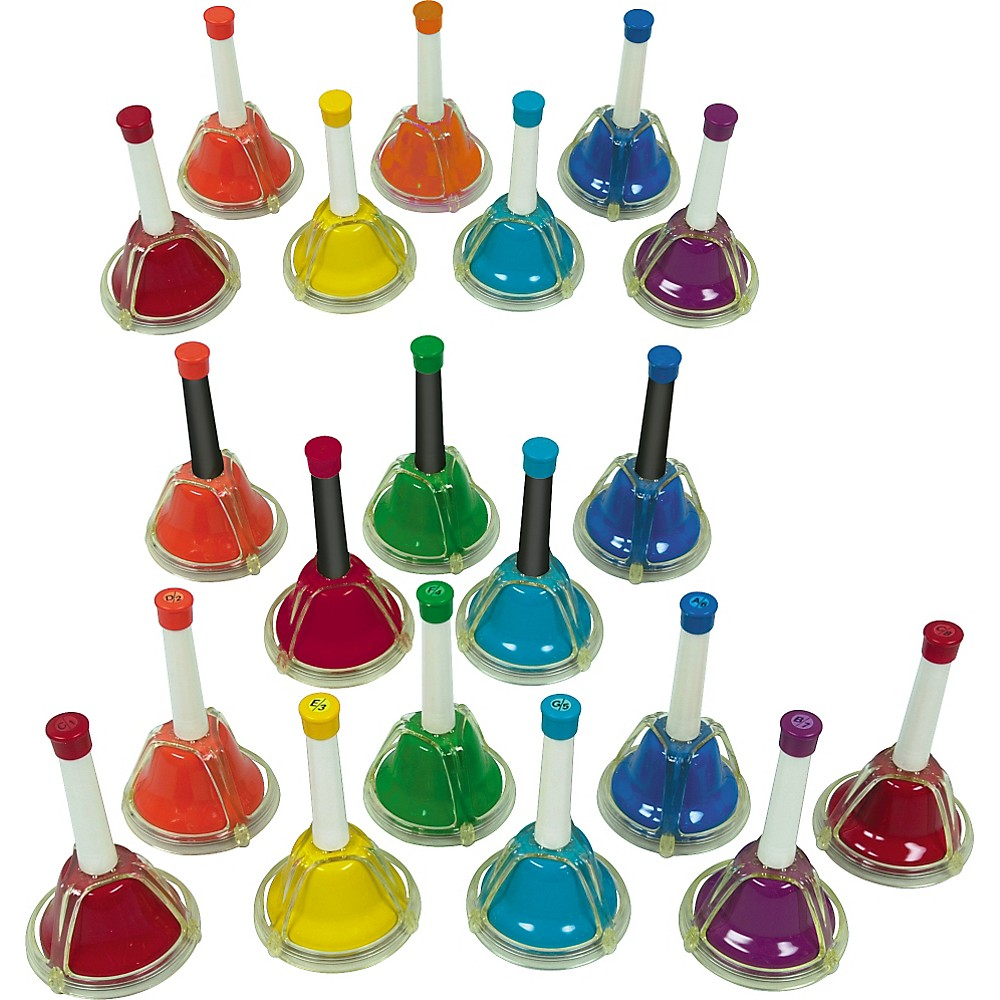 Rhythm Band Kid's Play 20-Note Hand/Desk Bell Set