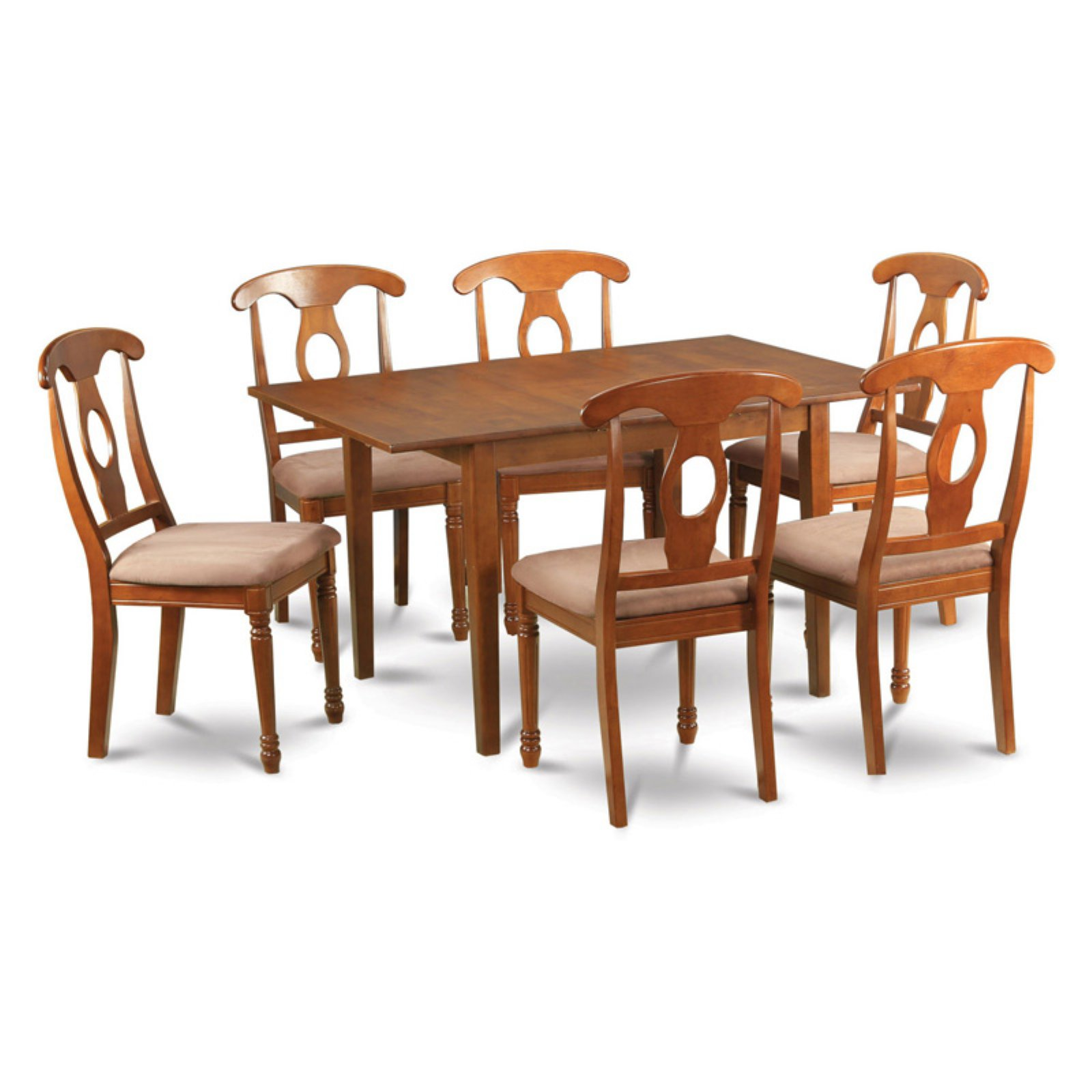 East West Furniture Milan 7 Piece Rectangular Dining Table Set with Kenley Chairs