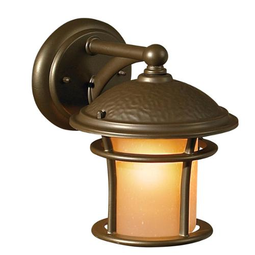Aztec Transitional 1-light Outdoor Antique Bronze Wall Fixture