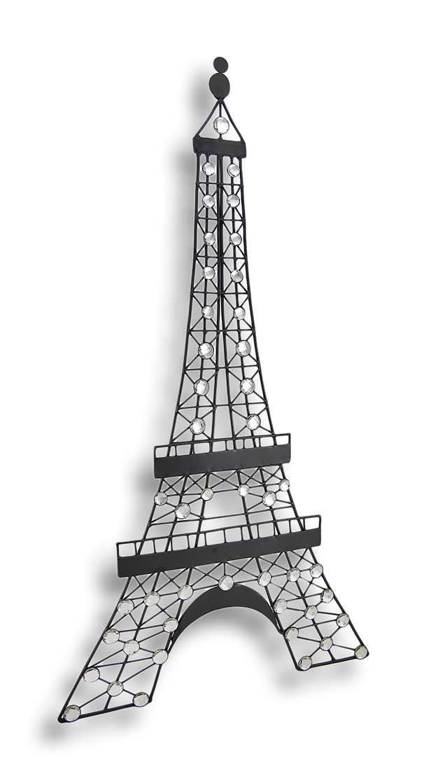 Beau Black Metal Decorative Eiffel Tower Wall Art Hanging