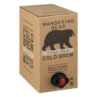Wandering Bear Organic Cold Brew Coffee On Tap, Straight Black, 96 fl oz