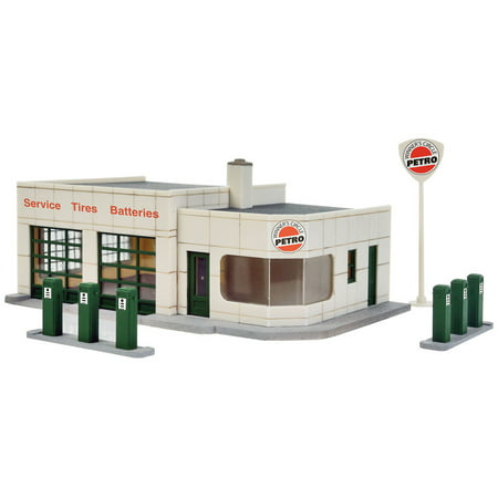 - Walthers Cornerstone HO Scale Building Kit Winner's Circle Petro Gas Station