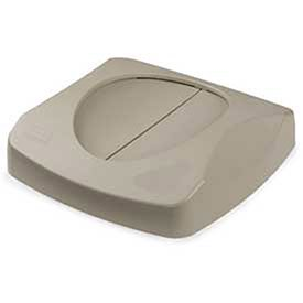 Lid For 23 Gallon Square Waste Receptacles - Beige, Lot of 1