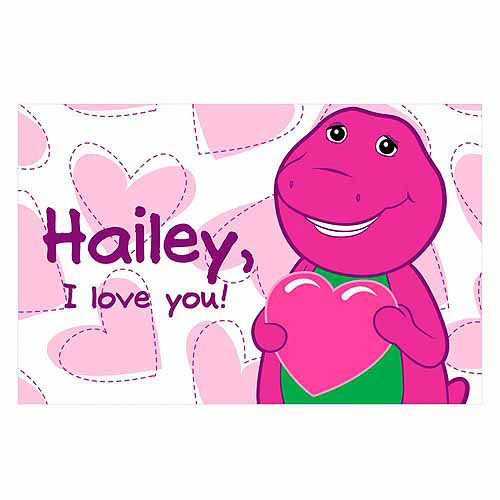 Personalized Barney Loves You Placemat