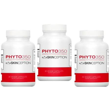 Skinception Phyto350 Advanced Phytoceramides Formula (30 Ct each Bottle) - 3 Months Supply - Formula 3 Month Supply
