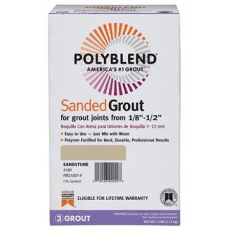 7 LB Sandstone Polyblend Sanded Grout Only One