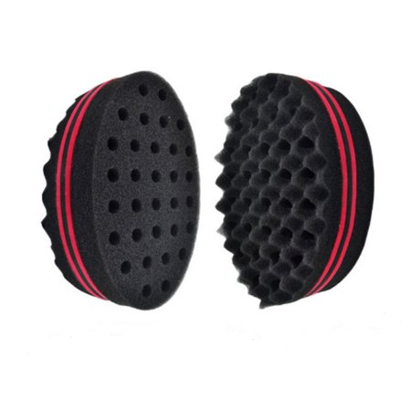 PaZinger Double Barber Hair Sponge Brush Dreads Locking Twist Coil Afro Curl Wave