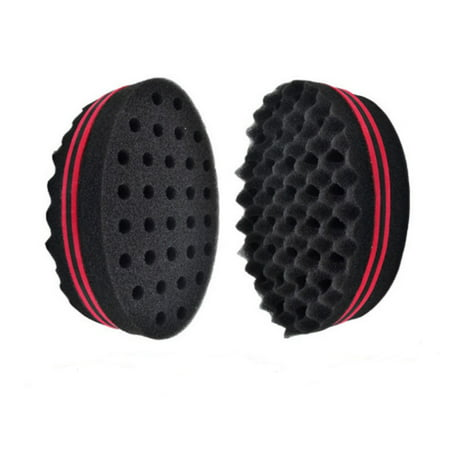 TIKA Double Barber Hair Sponge Brush Dreads Locking Twist Coil Afro Curl Wave Oval