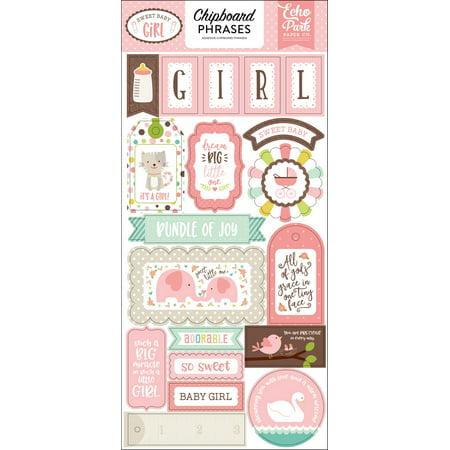 Baby Girl Chipboard (