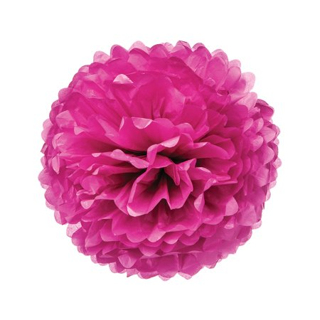 Tissue Paper Pom Pom (20-Inch, Sorbet Pink) - For Baby Showers, Nurseries, and Parties - Hanging Paper Flower Decorations - Baby Shower Hanging Decorations