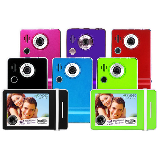 "Ematic 4GB MP3 Player with 3"" Touchscreen, Built-in 5MP Digital Camera, FM Radio, Assorted Colors"