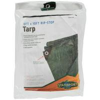 Stansport Rip Stop Tarp - 8 FT x 10 FT - Green